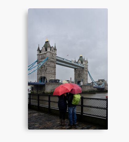 Umbrella admiration - Tower Bridge - London - Britain Canvas Print