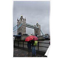Umbrella admiration - Tower Bridge - London - Britain Poster