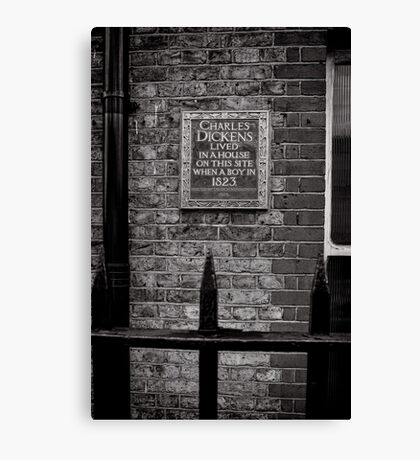 Charles Dickens lived here - Britain Canvas Print
