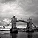 A brewing storm - Tower Bridge - London - Britain by Norman Repacholi