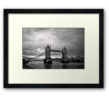 A brewing storm - Tower Bridge - London - Britain Framed Print