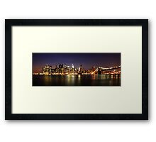 Manhattan Panoramic Framed Print