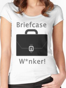 Briefcase W*nker Women's Fitted Scoop T-Shirt