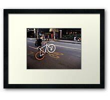 Street Bikes Framed Print