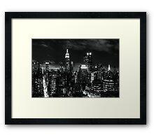 Monochrome City Framed Print
