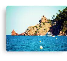 Theoule sur mer - Cote d'azur - France Canvas Print