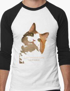 Life Without Cats Vector Men's Baseball ¾ T-Shirt