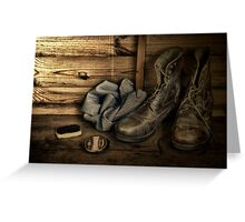 OLD BOOTS Greeting Card