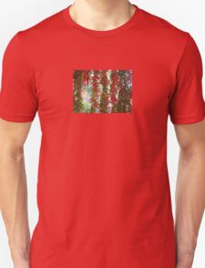 Strung and Hanging Red and Green Chili Peppers Drying T-Shirt