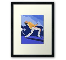 Freddie Mercury On Heat Framed Print