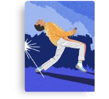 Freddie Mercury On Heat Canvas Print