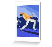Freddie Mercury On Heat Greeting Card