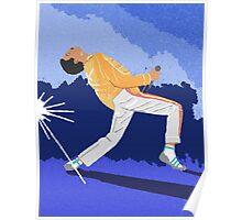 Freddie Mercury On Heat Poster