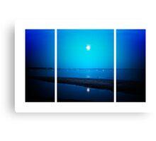 Moonlit La Tranche Sur Mer (Lomography) Canvas Print