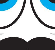 Senior MUSTACHE man with blue eyes Sticker
