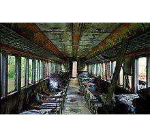 Internal- Abandoned Train Photographic Print
