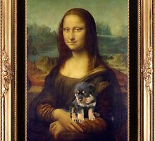 Mona Lisa Nursing Her Puppies by taiche
