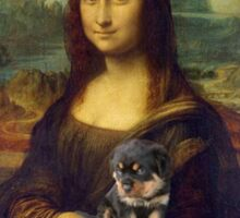 Mona Lisa Nursing Her Puppies Sticker