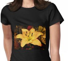In Joy or Sadness, Flowers are our constant friends. Womens Fitted T-Shirt