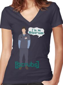 I'm no superman Women's Fitted V-Neck T-Shirt