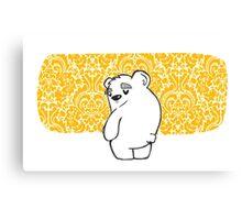 a Bear Sigh Canvas Print