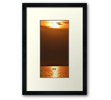 Evening Kayaking Framed Print