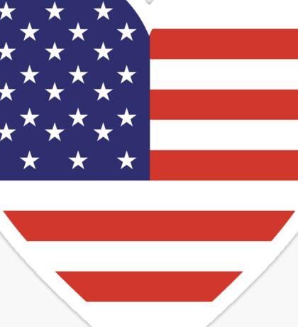 American Flag, USA, Heart, Stars & Stripes, Pure & Simple, Americana, America Sticker