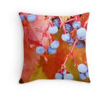 Vibrant Grape Vines Throw Pillow
