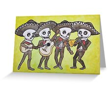 Mariachi Calacas Greeting Card Greeting Card