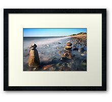 Pile Of Stones On Ryder Beach North Truro MA Framed Print