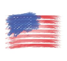 United States of America Flag USA Photographic Print
