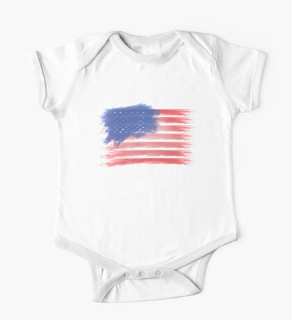 United States of America Flag USA One Piece - Short Sleeve