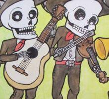Mariachi Calacas Sticker Sticker