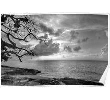Sunset over Love Beach in Nassau, The Bahamas Poster