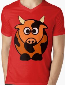 ღ°㋡Cute Brindled Cow Clothing & Stickers㋡ღ° Mens V-Neck T-Shirt