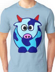 ღ°㋡Cute Brindled Cow with Red Horns Clothing & Stickers㋡ღ° Unisex T-Shirt