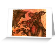 The Dogs of War II (Small Dogs of War) Greeting Card