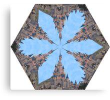 Castle Kaleidoscope Image Canvas Print