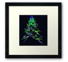 Fractal - Green Christmas Tree Framed Print