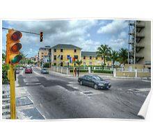 West Bay Street & Nassau Street in Nassau, The Bahamas Poster