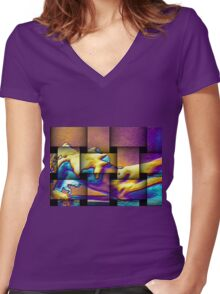 Woven Orgasm Women's Fitted V-Neck T-Shirt
