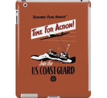 Time For Action -- Join The U.S. Coast Guard iPad Case/Skin