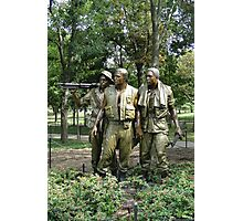 The Three Servicemen Photographic Print