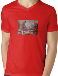 Hallowe'en Comes to Town Mens V-Neck T-Shirt