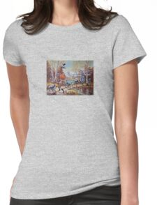 Hallowe'en Comes to Town Womens Fitted T-Shirt