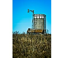 abandoned rural farm windmill Photographic Print
