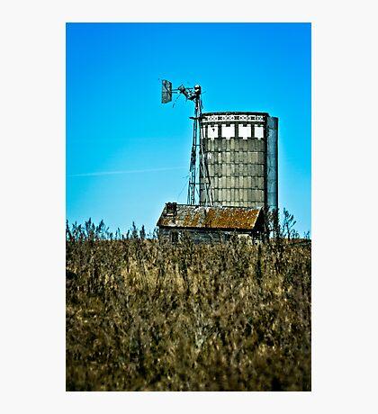 abandoned rural farm windmill Photographic Print