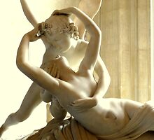Psyche Revived by Cupid's Kiss - Musée du Louvre by Federica Gentile