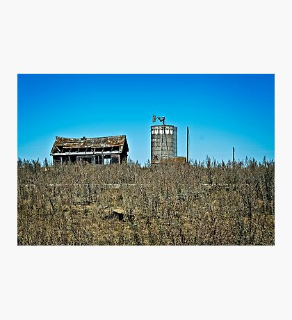 abandoned rural farm homestead Photographic Print