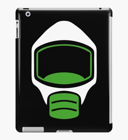 Emergency Escape Mask (or Smoke Hood, or Gas Mask) Sign iPad Case/Skin